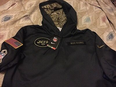 Men's Nike Anthracite New York Jets Salute To Service Black Hoodie- Medium, New