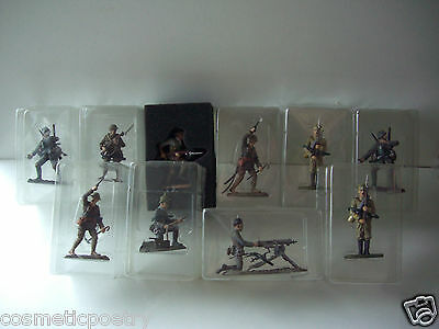 WW1 Quality Lead Painted  Metal Soldiers - Set Of Ten - Info & Large Pic Below