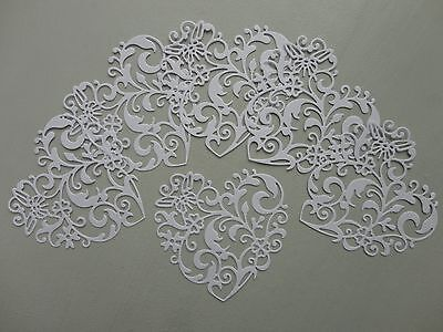 Die cut intricate floral hearts, toppers, embellishments, cards, scrapbooking