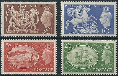 "KGVI 1951: High Value ""Festival"" Definitives; SG509 - SG512. Mint Hinged."