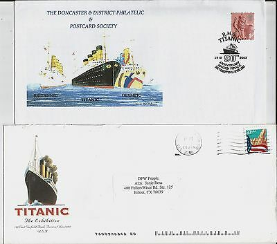 Titanic envelopes from UK, US for 90th anniversary of maiden voyage, exhibition