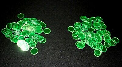 Use on BINGO PAPER Cards sheets 200 Green Chips, markers. no daubers  NEW