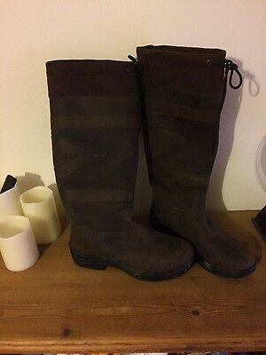 Toggi Canyon Boots Waterproof Country Equestrian Riding Brown Size 7