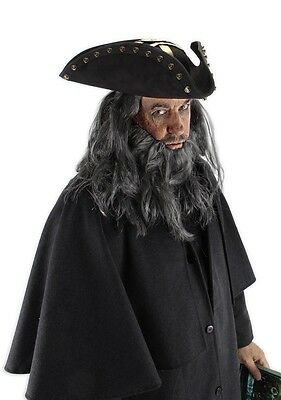 Pirates Of The Caribbean Blackbeard Hat Costume Accessory Adult One Size