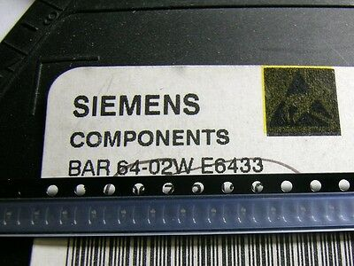 [50 pcs] SIEMENS BAR64-02W PIN Switch/Attenuator Diode up to 3GHz SCD80