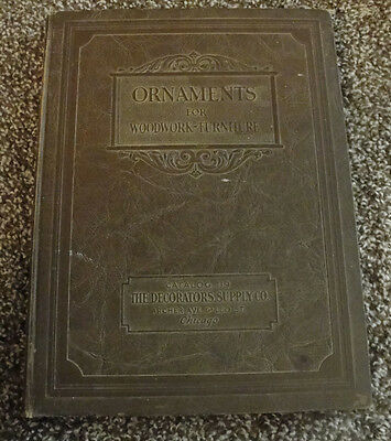 [c1920s] DECORATOR SUPPLY CO CATALOG #119 Ornaments for Woodwork hb illus w/ Sup