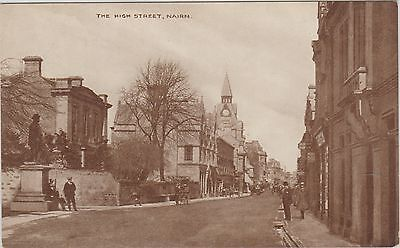 Nairn - The High Street - Scotland Early Photographic  Postcard