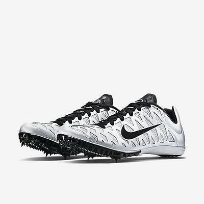 Nike Zoom Maxcat 4 Track Running Spikes Shoes Men's Sz 12  White & Black