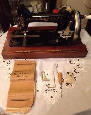 Vintage Gamages Sewing Machine With Case,accessories & Instructions c1930