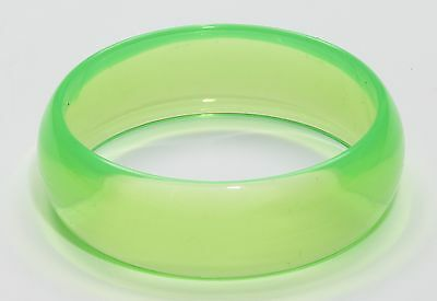 Club Candy Transparent Costume Bracelet: Green One Size