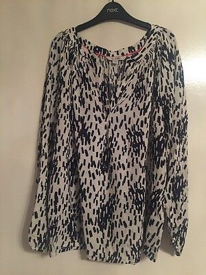 BODEN NEW Black And White Blouse Size 10R