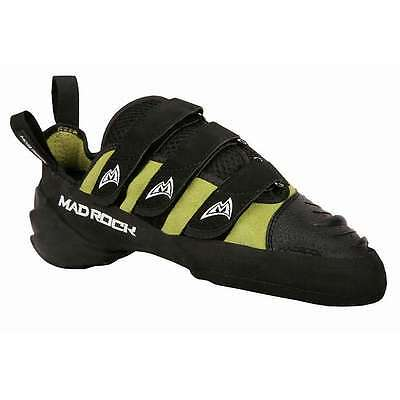 Mad Rock Black Green Hooker Strap Mountaineering Climbing Shoes Size 10.5 UK
