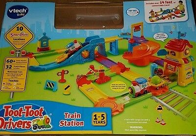Vtech Toot Toot Drivers Train Station Inc Motorised Train 1-5 Years Smart Points