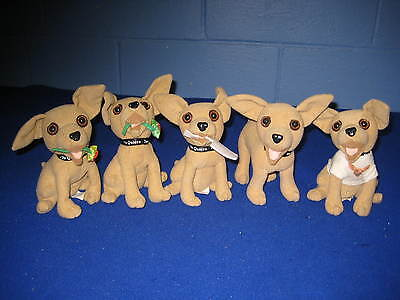 Taco Bell Talking Chihuahua Dogs Plush - Lot Of 5