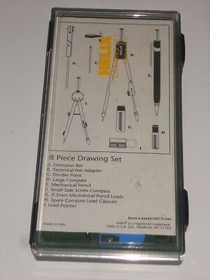 Helix  8 Piece Drawing Art and Drafting Set wtih case, Made in Italy