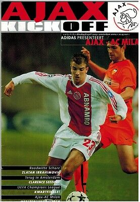 UEFA Official programme Ajax - AC Milan 8 april 2003