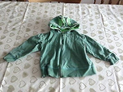Boys dinosaur zip hooded top age 3-4 years