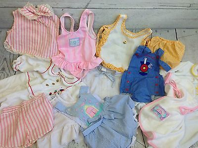 Vtg 10+ sz 3 mo - 24 mo 6 mo Girl rompers baby clothes clothing outfit