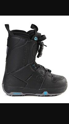 Salomon Kamooks black snowboard boots size UK 8
