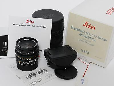 @ Leica M 1.4/35 mm Summilux-M Aspherical first Version 11873 boxed 98% MINT