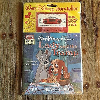 New NOS VTG Disney Read Along Story Book Audio Cassette Tape Lady and the Tramp