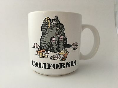 Kliban Cat California Shells Coffee Cup Mug 1989 Kilban