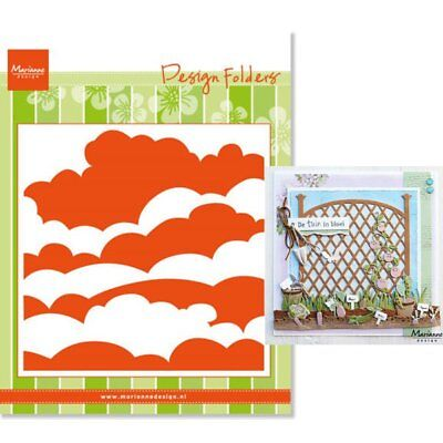 Marianne Design - Embossing Folder - Clouds DF3434 - NEW RELEASE 2018