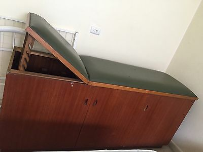Vintage Solid timber Medical Examination Table Couch