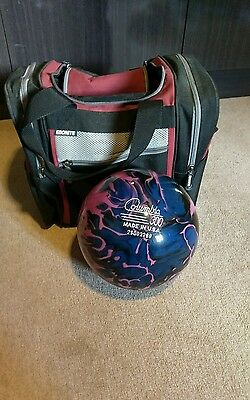 12lb undrilled bowling ball and bag