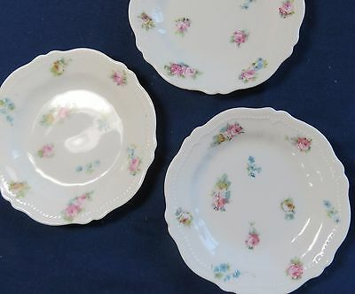 3 Antique Butter Pats O & EG Royal Austria Pretty Flowers