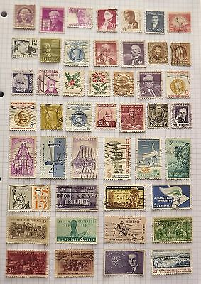 USA. Collection of 46 stamps.      B