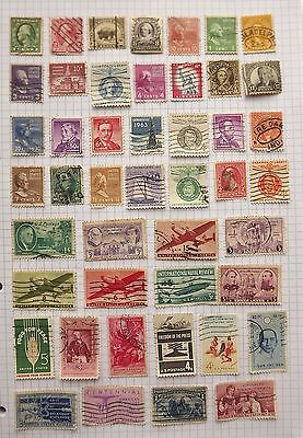 USA. Collection of 46 stamps.      D