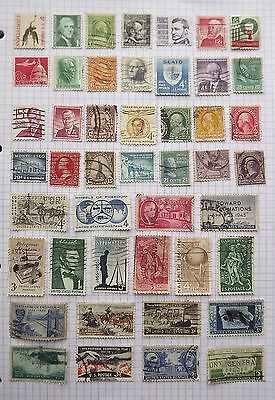 USA. Collection of 46 stamps.      C