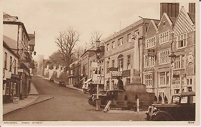 Arundel - High Street - Sussex - Real Photo - Postcard