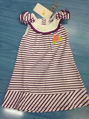 Mayoral Baby Girl Dress Brand New 100% Cotton 18 Months Purple