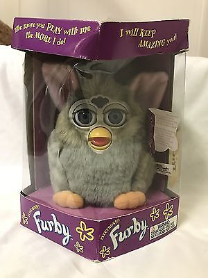 New In Box Electronic Gray Furby Tiger Model 70-800