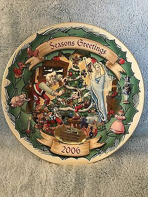 Disney's Christmas Through The Years Collection Pinocchio 1940 Plate