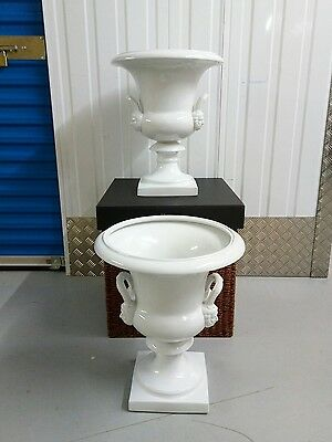 "Pair of Large ""Meissen"" Style Ceramic Urns"