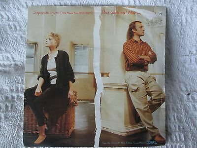 PHIL COLLINS/MARILYN MARTIN - SEPARATE LIVES 45rpm 7 inch vinyl single 1980s