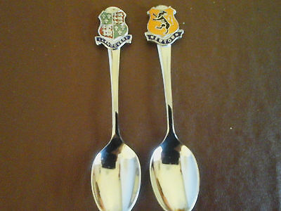 2 x COLLECTABLE TEASPOONS FROM WALES
