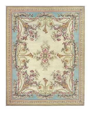 Dollhouse Miniature Iron On Fabric Rug 1:12 Scale Persian Oriental Floral Blue