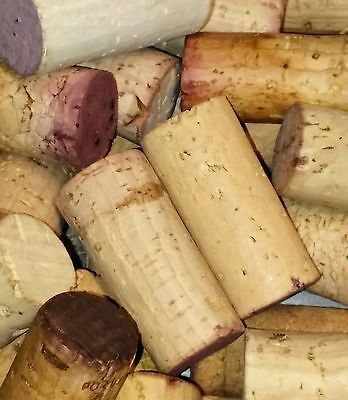 1000 wine corks - red wine stained- BLANK only-  great for mosaics