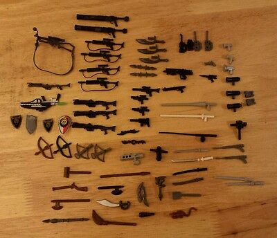 LEGO WEAPONS Lot of 74 Pieces
