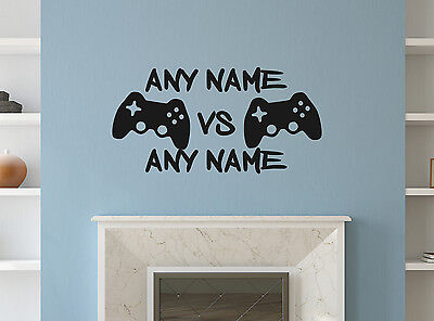 Personalised Game Play Wall Stickers Mural Home Decal Room Vinyl Art Decor Logo