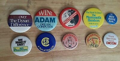 Vintage Lot of 10 Advertising Pin Buttons