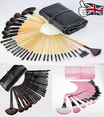 NEW Professional 32 Piece  Make Up Brush Set and Cosmetic Brushes Case