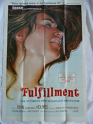 FULFILLMENT johnny wadd john holmes vintage cine adult film movie lobby poster