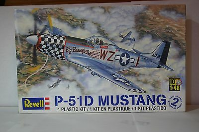 Revell Model Kit P-51D Mustang Airplane -  1:48 Scale - Contents Sealed