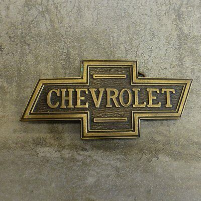 Vintage Chevrolet Buckle Solid Brass Chevy Bowtie Emblem suits 38mm wide belt