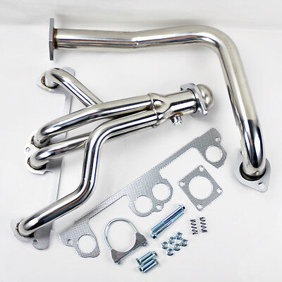 Jeep Wrangler YJ 1991-1995 2.5L L4 Stainless Manifold Header w/ Downpipe